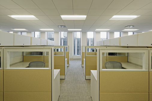 Mid-Atlantic - USA「Empty cubicle area」:スマホ壁紙(9)