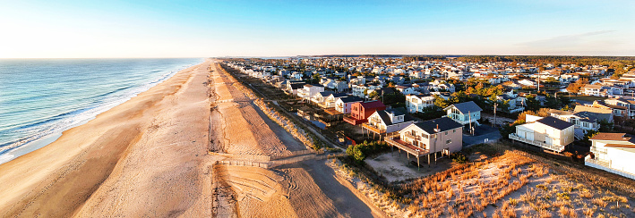 Wooden Post「South Bethany Beach. Delaware.  Dune Line as seen from a drone」:スマホ壁紙(16)