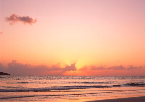 夕焼け 海「Sea」:スマホ壁紙(18)
