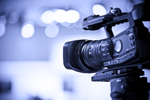 Television Studio「Professional HD video camera in studio」:スマホ壁紙(4)