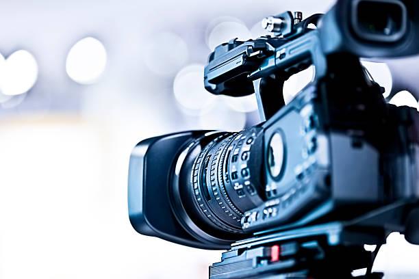 Professional HD video camera in studio:スマホ壁紙(壁紙.com)