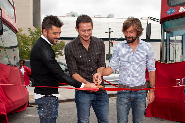 Andrea Pirlo「David Villa, Frank Lampard, Andrea Pirlo NYCFC Ride Of Fame Induction Ceremony」:写真・画像(2)[壁紙.com]