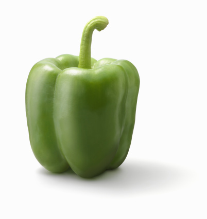 Green Bell Pepper「Green bell pepper on white background」:スマホ壁紙(17)