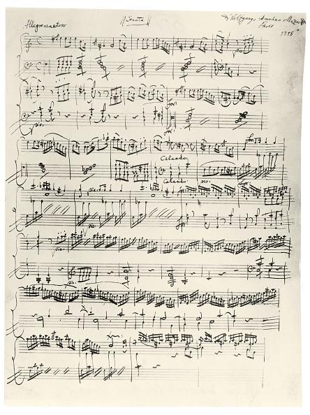 Writing「Beginning of the clavier sonata A-Moll」:写真・画像(16)[壁紙.com]