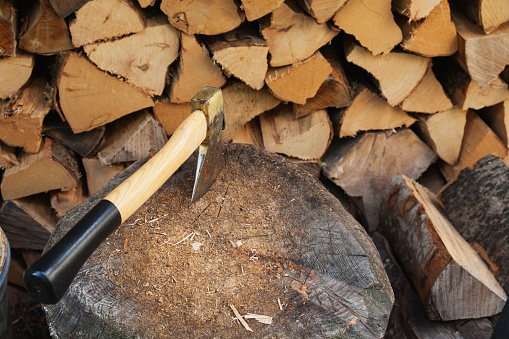 Woodpile「Chopping firewood」:スマホ壁紙(19)