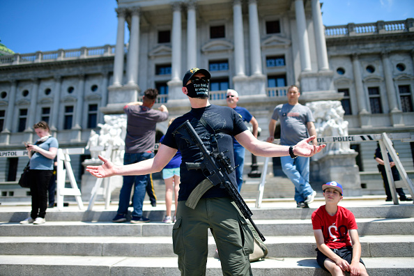 Protest「Rally Held At Pennsylvania State Capitol To Urge Governor To Open Up Lockdown Orders」:写真・画像(17)[壁紙.com]