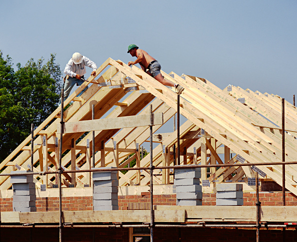 Finance and Economy「House building A frame roofing timbers brick built house」:写真・画像(4)[壁紙.com]