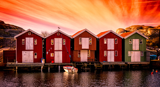 Swedish Culture「Boathouses panorama」:スマホ壁紙(4)
