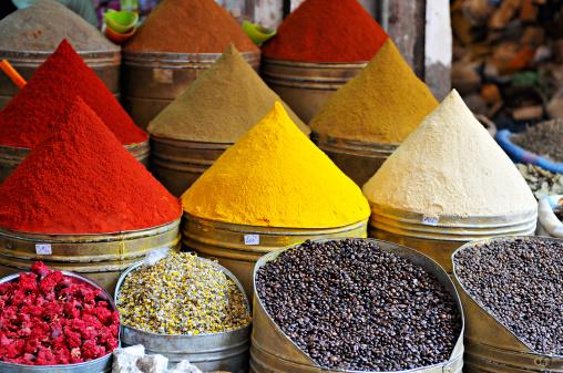 Market Stall「Djemaa el Fna market spices.」:スマホ壁紙(4)