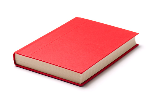 Textbook「A single red book on a white surface」:スマホ壁紙(5)