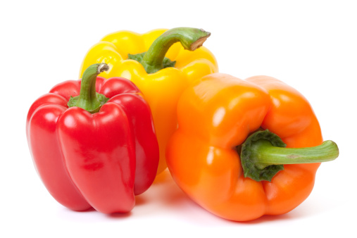 Bell Pepper「Three bell peppers, a red, a yellow and an orange one」:スマホ壁紙(13)