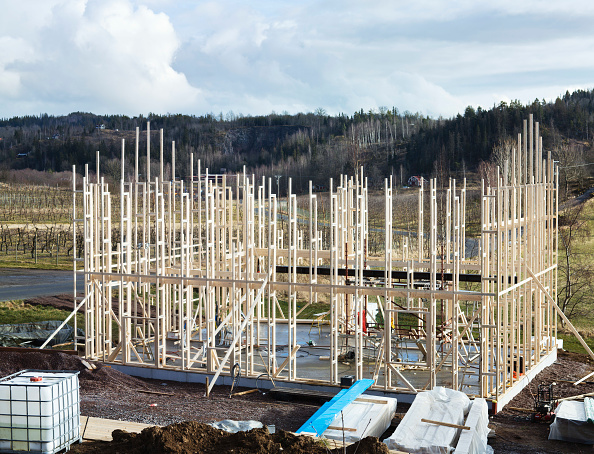 Frame - Border「Timber framework of a low energy single family house」:写真・画像(5)[壁紙.com]