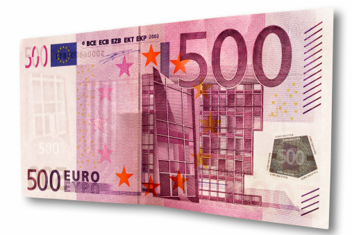 European Union Currency「500 euro bank note, close-up」:スマホ壁紙(11)
