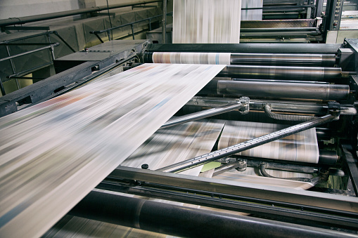 Part of a Series「Printing newspapers」:スマホ壁紙(18)