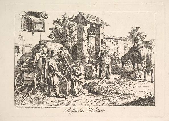 Etching「Cossack At The Well」:写真・画像(7)[壁紙.com]
