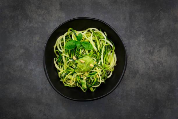 Bowl of Zoodels with avocado basil pesto:スマホ壁紙(壁紙.com)