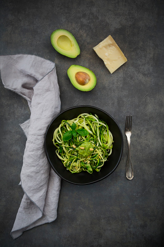 Pine Nut「Bowl of Zoodels with avocado basil pesto」:スマホ壁紙(3)