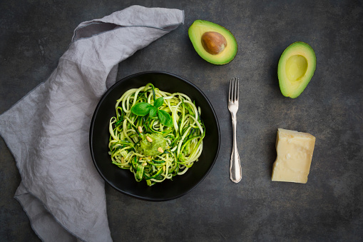Pine Nut「Bowl of Zoodels with avocado basil pesto」:スマホ壁紙(7)