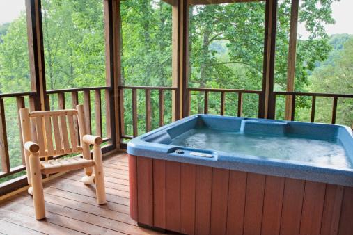 Great Smoky Mountains National Park「Hot Tub Tree House (XXL)」:スマホ壁紙(16)