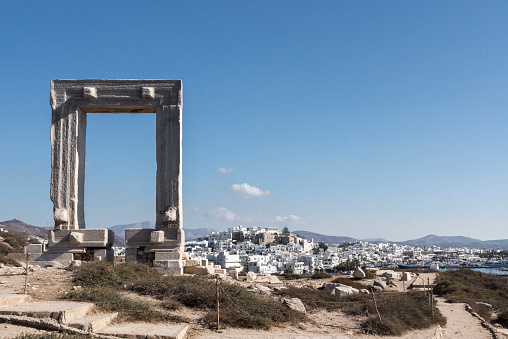 Aegean Sea「Greece, Cyclades, Naxos, Gate to the temple of Apollo」:スマホ壁紙(4)