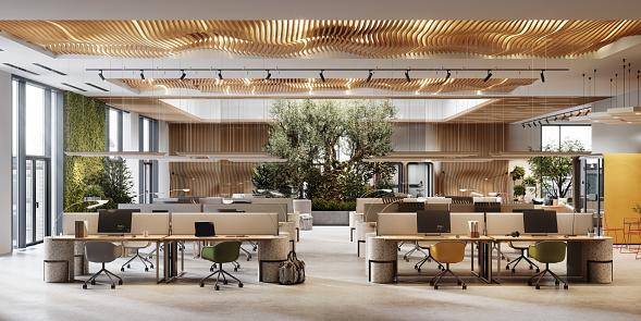 Open Plan「Eco friendly coworking office space in 3D」:スマホ壁紙(2)