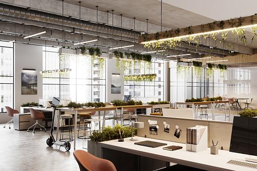 Working「Eco friendly coworking office space in 3D」:スマホ壁紙(14)