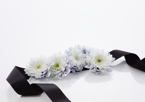 Funeral「Chrysanthemum flower arrangement (mourning image)」:スマホ壁紙(11)
