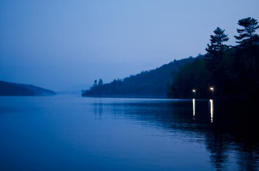 Adirondack Mountains「Lake Placid at dusk」:スマホ壁紙(0)