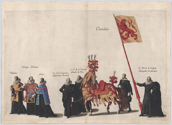Patriotism「Plate 35: Men With Heraldic Flags And Horses From Charolois Marching In The Funeral Proces」:写真・画像(17)[壁紙.com]