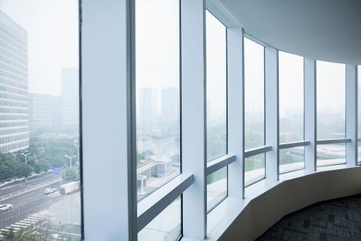 Beijing「View of urban cityscape from business office」:スマホ壁紙(8)