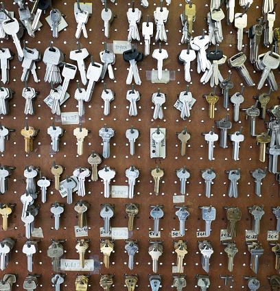 Rack「Racks of keys on wall」:スマホ壁紙(9)