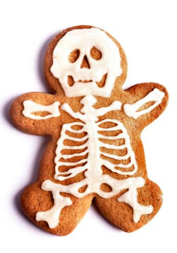 ハロウィン「Cookie shaped as a gingerbread man with xray」:スマホ壁紙(6)