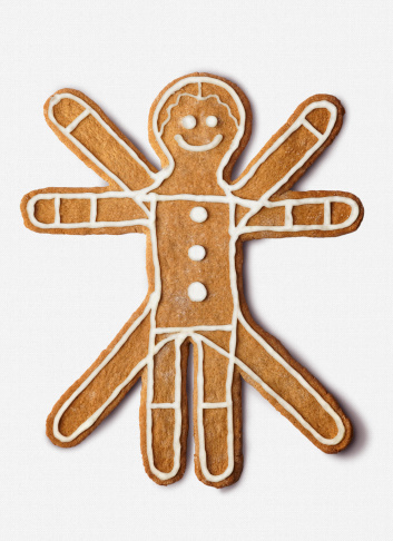 名画「Cookie shaped as the classic  vitruvian Man」:スマホ壁紙(9)