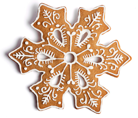 雪の結晶「Cookie shaped as a snowflake with fancy decoration」:スマホ壁紙(16)
