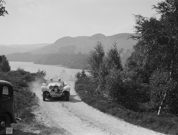 Landscape - Scenery「SS Jaguar 100 open 2-seater of Miss E Violet Watson competing in the RSAC Scottish Rally, 1939」:写真・画像(15)[壁紙.com]