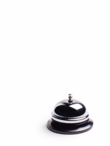 Service Bell「Desk service bell on white background」:スマホ壁紙(19)