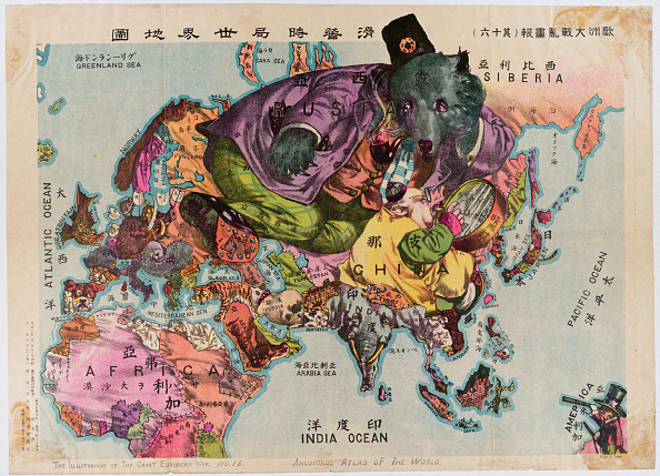 Satire「Japanese Map From 1914 A Satirical Atlas Of The World」:写真・画像(7)[壁紙.com]