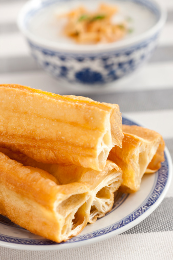 Dim Sum「Chinese food rice porridge and youtiao」:スマホ壁紙(19)