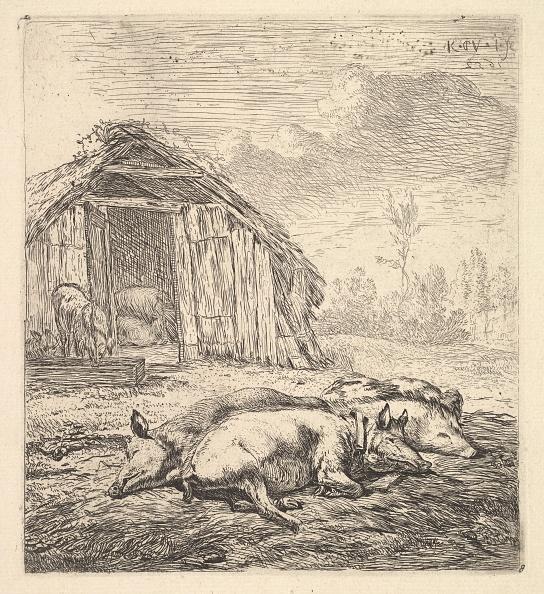 Etching「Three Pigs Lying On Their Sides」:写真・画像(12)[壁紙.com]