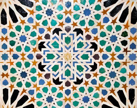Moorish「Detail of mosaics in  Nasrid Palace of Alhambra,Sevilla,Spain」:スマホ壁紙(7)