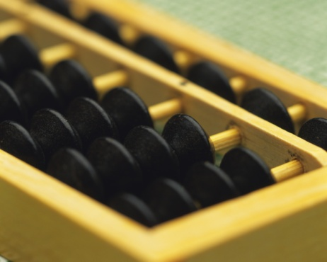 Tradition「An abacus, Close Up, High Angle View, Differential Focus」:スマホ壁紙(0)
