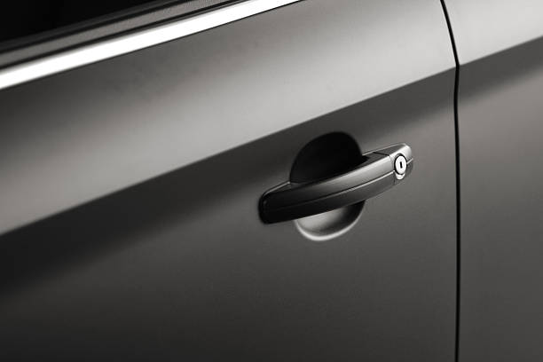 Black car doorhandle close up:スマホ壁紙(壁紙.com)