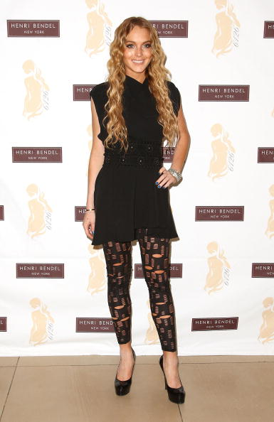 "Leggings「Lindsay Lohan Launches ""6126"" At Henri Bendel」:写真・画像(12)[壁紙.com]"