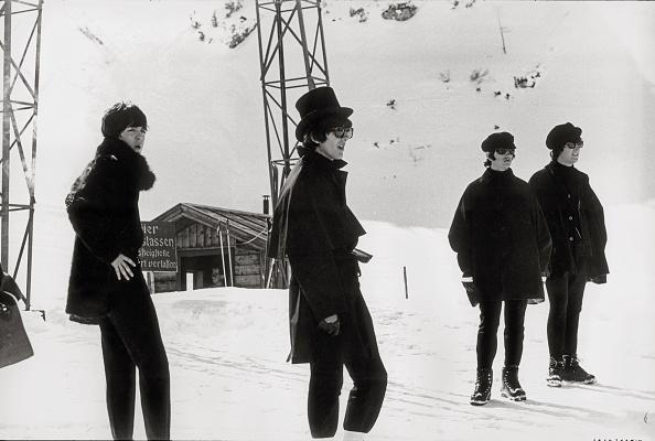 "Snow「""Help!"". The Beatles in Obertauern shooting the correspondent movie. Salzburg. Austria. Photograph by Christian Skrein. 1965.」:写真・画像(19)[壁紙.com]"