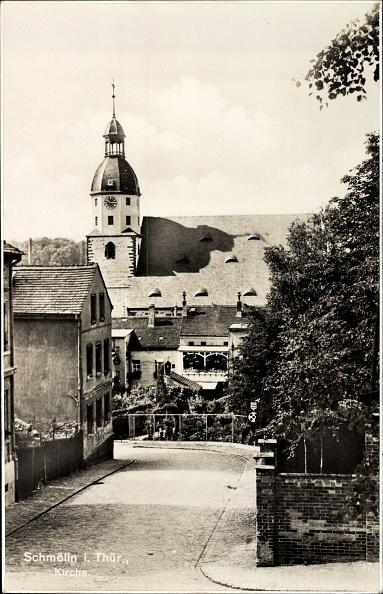 Footpath「Ak Schmölln in Thüringen, Straßenpartie mit Blick auf Kirche, Häuser」:写真・画像(9)[壁紙.com]