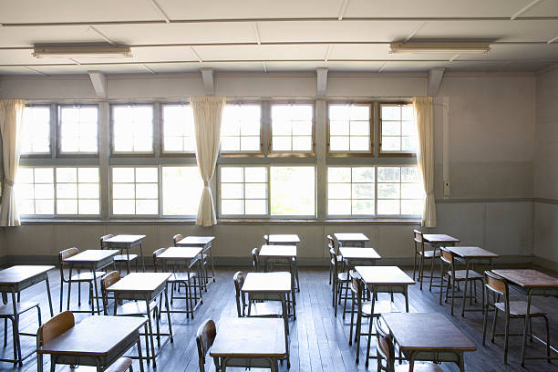 Japanese elementary school classroom:スマホ壁紙(壁紙.com)