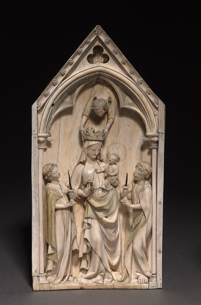 Gothic Style「Plaque: The Virgin And Child With Angels」:写真・画像(15)[壁紙.com]