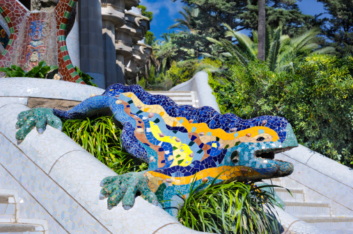 Dragon「Mosaic dragon, Park Gwell, Barcelona」:スマホ壁紙(18)