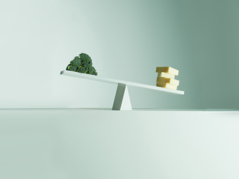 Seesaw「Cheese tipping seesaw with broccoli on opposite end」:スマホ壁紙(17)