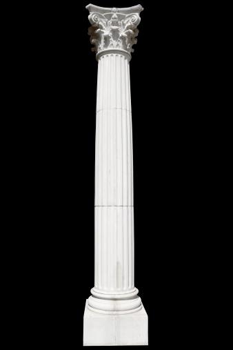 Roman「White Greek column on black」:スマホ壁紙(17)